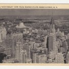 Vintage New York City Postcard NE view from Empire State observatory Building