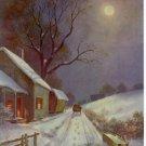 "1931 Calendar art print ""A WINTERS NIGHT""  F.S Burgy"