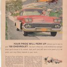 1958 Original Chevrolet Bel Air ad  from magazine