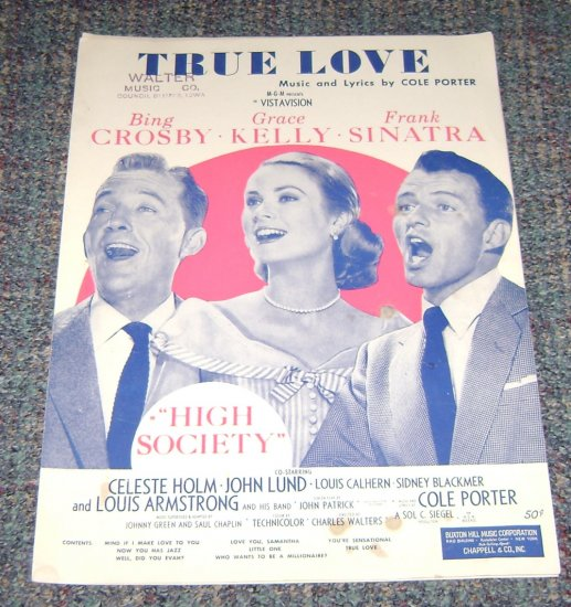 True Love music sheet Cole Porter cover Frank Sinatra Grace Kelly & Crosby