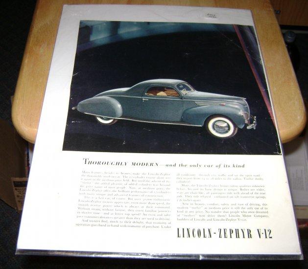Lincoln Zephyr V-12 poster picture