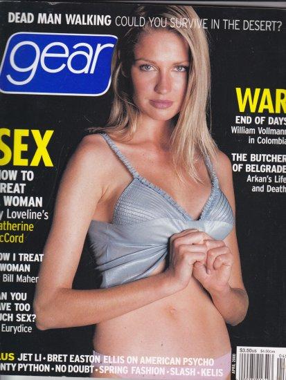 Gear Mens Magazine Catherine McCord Jennifer Sky Bill Maher April 2000