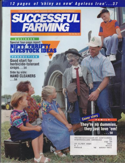 Successful Farming Febuary 1995 Feat Greg Classen Ageless Iron