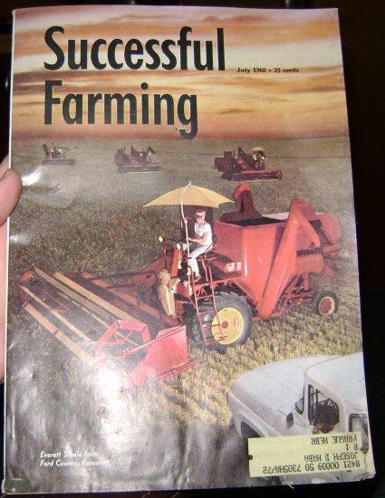 Successful Farming 1960 July Everett Steele Farm cover Ford  County KS