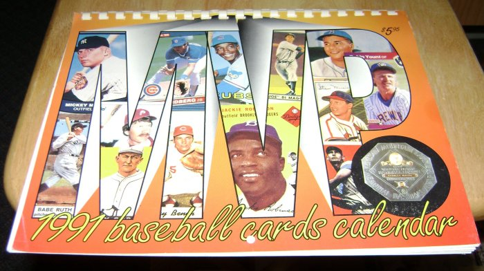 1991 baseball cards calendar krause publications