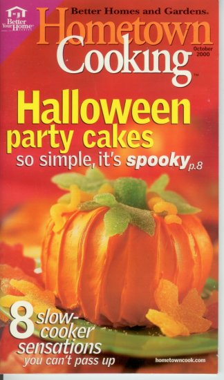 Better homes & gardens Hometown Cooking Halloween party cakes 8 slow cooker sensations