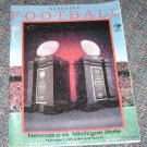 Nebraska football guide sept-7 1996 Michigan State Brook Berringer dedication