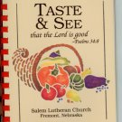 Salem Lutheran Church Fremont Nebraska Cookbook