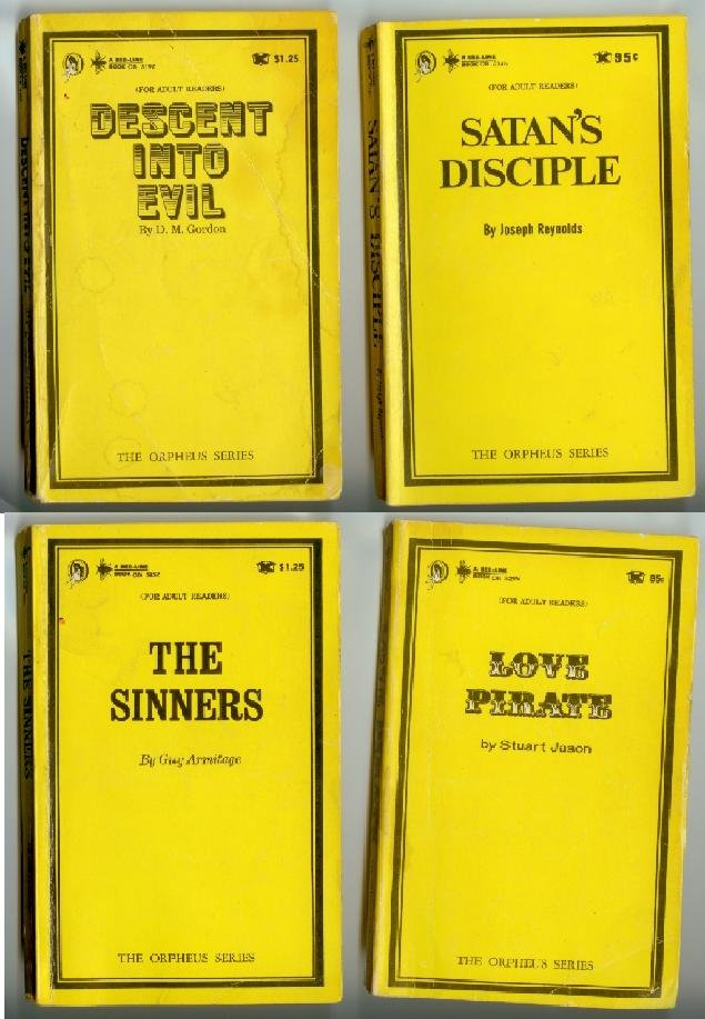 4 Orpheus Series PB�s Sinners Love Pirate Satans Disciple Descent Into Evil