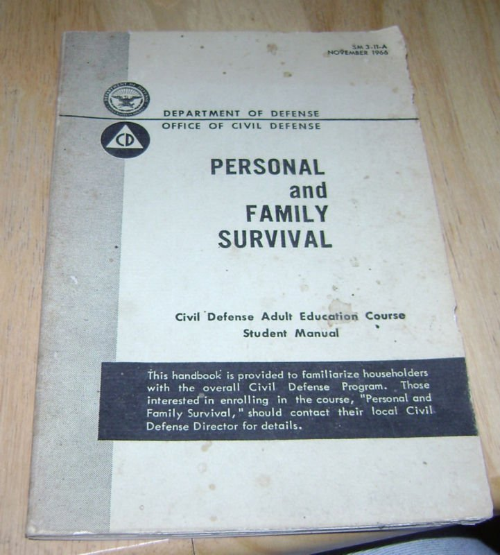 Civil Defense Personal and Family Survival Manual 1966