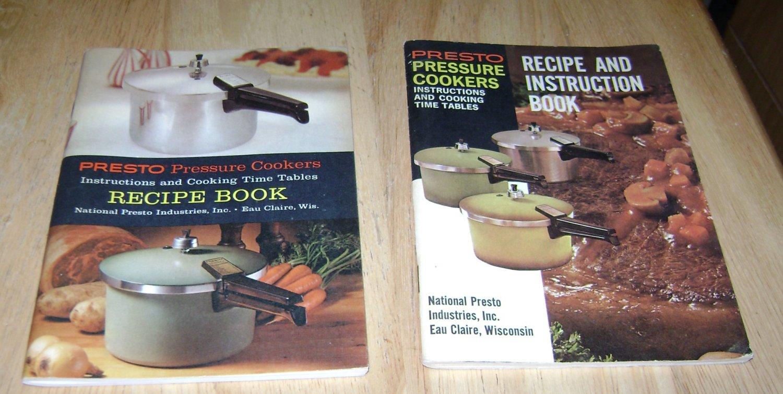 2 Presto Recipe an Instruction books