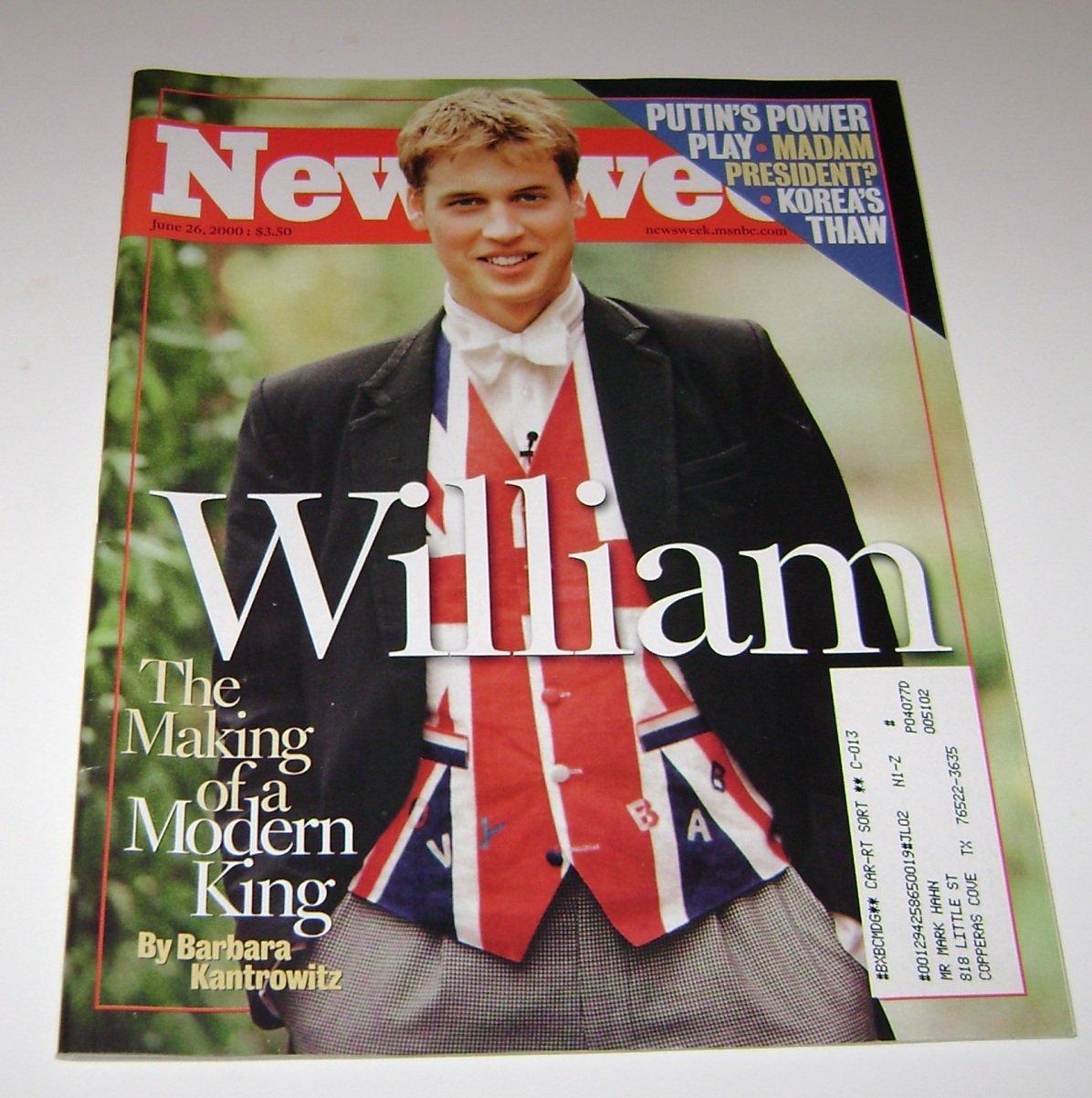 Newsweek June 2000 Prince William