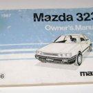 1987 Mazda 323 owners manual