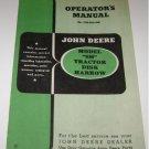 Operators manual John Deere SH Tractor Disk Harrow