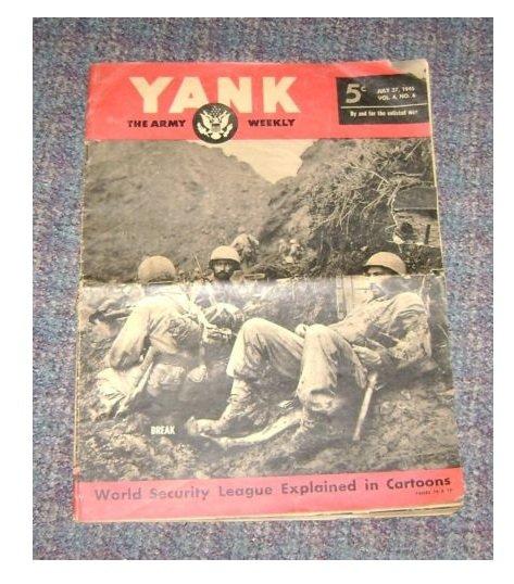 Yank Army Weekly Magazine july 27 Vol 4 No 6 1945 WW2 era