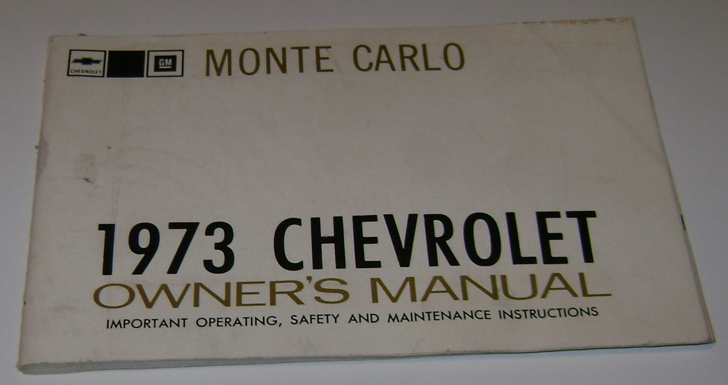 1973 Chevrolet Monte Carlo owners manual