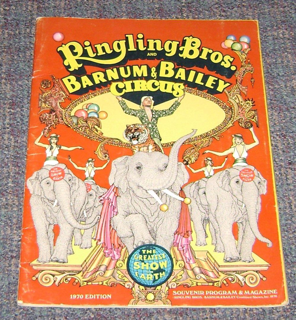 ringling Bros & Barnum & Bailey 1970 Edition Sovenir Program