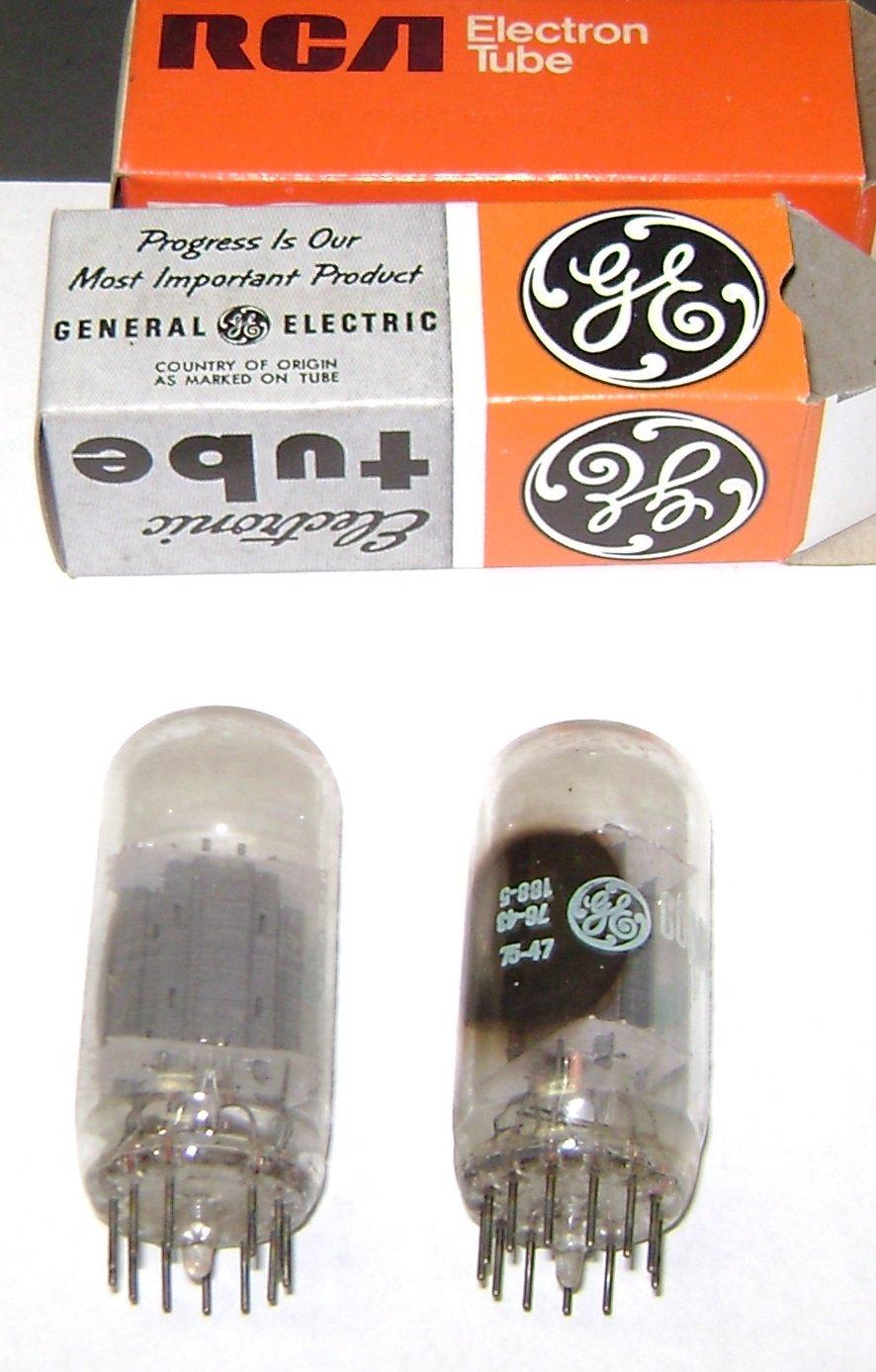 (2) GE vacuum tubes 11FY7 USED