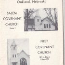 Covenant Churches Salem & First Oakland Nebraska 1972 Directory
