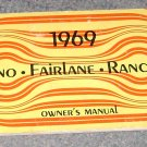 1969 Torino Fairlane Ranchero owners manual