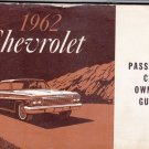 1962 Chevrolet car owners guide