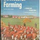 Successful Farming Sept 1955 W.G Okief Cover Wood Lake NE & Wayne Bellmeyer Plattville WI AD