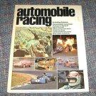 Automobile Racing by Geoffrey Nicholson 1975 Book, Illustrated HC