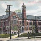 Vintage Postcard Marinette Wisconsin High School
