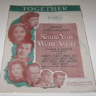 "Together music sheet of Selznick Movie "" Since You Were Gone ""  Jennifer Jones"