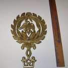 """Vintage Metal Hot Plate Stand """" an Eagle over Heart """""""