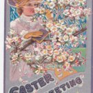 "Vintage Postcard 1909 "" Easter Greetings """
