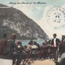 Postcard Along the Banks of the Hudson River missent to Western NE was Weston NE