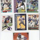 7 assorted brands Cris Carter Vikings Football Cards