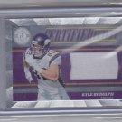 Panini Kyle Rudolph Certified Future Vikings Football card w/ cloth