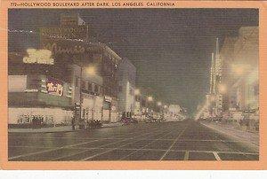Vintage Postcard Hollywood Boulevard Los Angeles CA