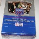 Silver Anniversary Commorative Card Set Super Bowl XXV 25 box