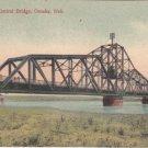 Vintage Postcard Illinois Central Railroad Bridge Omaha Nebraska 1909