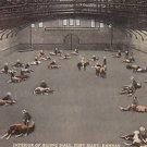 Vintage Postcard Interior of Riding Hall Fort Riley Kansas 1924