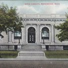 Vintage Postcard Spies Library Menominee Michigan