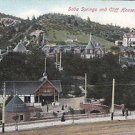 Vintage Postcard Soda Springs & Cliff House Manitou Colorado
