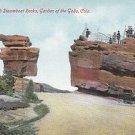 Vintage Postcard Balanced & Steamboat Rocks Garden of Gods Colorado