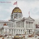 Vintage Postcard New Post Office Building Chicago ILL