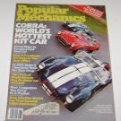 Popular Mechanics August 1982 Cobra Worlds Hottest Kit Car