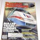 Popular Mechanics Magazine Sept 1986 Bullet Train Tunnel England to France