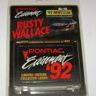 Rusty Wallace Pontiac Excitement 92 Wheels Silver Edition Collector Cards