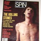 Spin Aug 1986 Mick Jagger Cover and Rolling Stones feature , Metallica Ramones