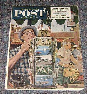 Saturday Evening Post Aug 25 1952 Stevan Dohanos Cover Art 52 Olympics article