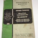 John Deere Operators Manual Tractor controlled Harrow