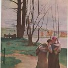 "Vintage F.A Owens Print "" By The River "" Henri Lerolle"