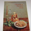 Central Electric (Lincoln Electric ) Christmas Recipes mini Cookbook 1959